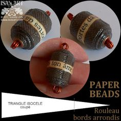 ISA'sART: PAPER BEADS - ROULEAU BORDS ARRONDIS