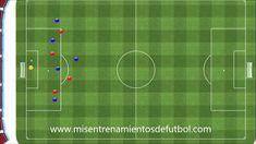 Ejercicio de Fútbol táctico de salida de balón