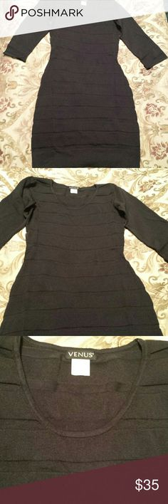 Brand New Black Sheath Dress by Venus. Size XS NWOT Little black sheath dress by Venus. No tags because it was ordered online. Never worn, no flaws. Size XS. Venus Dresses Midi