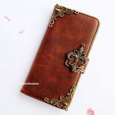 Fleur de Lis iphone 6 case,galaxy Note 3 flip pouch,leather LG G3 wallet,victorian samsung S3 mini cover – ArtifyCase