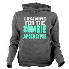 Training For The Zombie Apocalypse Women's Hooded Sweatshirt #zombies #funny
