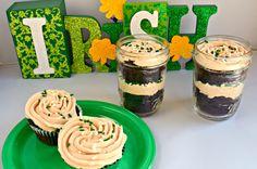 Chocolate Cupcakes with Irish Buttercream