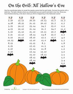 grid drawing halloween math worksheetshalloween