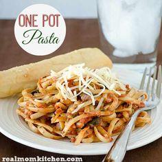 One Pot Pasta | realmomkitchen.com