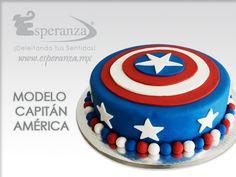Modelo Capitán América Fondant