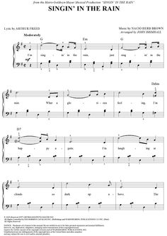 Singin' in the Rain Sheet Music Preview Page 1