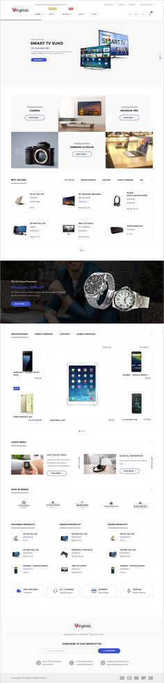 Virginia is a tidy and responsive 5 in 1 #WordPress theme for #webdesign #Electronics Store, Vendor based marketplaces, affiliate or similar websites download now➩ https://themeforest.net/item/virginia-electronic-woocommerce-wordpress-theme/18276123?ref=Datasata