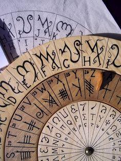 Cypher Wheel Cipher Disk Theban Ogham Enochian & by Cypherwheel