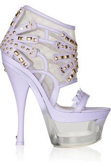 * Walking in Style * / Dreaming of this Versace Studded leather and Lucite platform sandal |2013 Fashion High Heels|