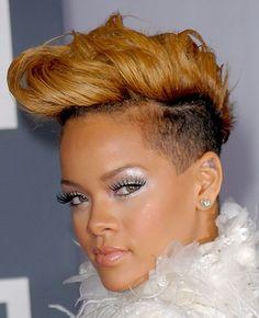 Rihanna Fauxhawk haircut