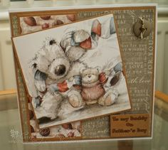 Commissioned card made with Wellington the bear topper and papers. Inspiration Cards, Card Making Inspiration, Men's Cards, Xmas Cards, Bear Card, Christian Cards, Paddington Bear, Tatty Teddy, Birthday Cards For Men