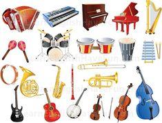 Znalezione obrazy dla zapytania musical instruments vocabulary