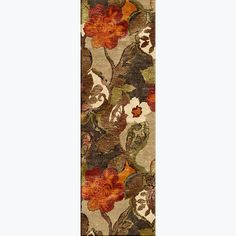 Bring the beauty of a tapestry to your hallway floor with this richly colored runner rug. This rug is made of wool for durability and softness and is embellished with silk accents to provide a textured appearance. The floral pattern is truly splendid.