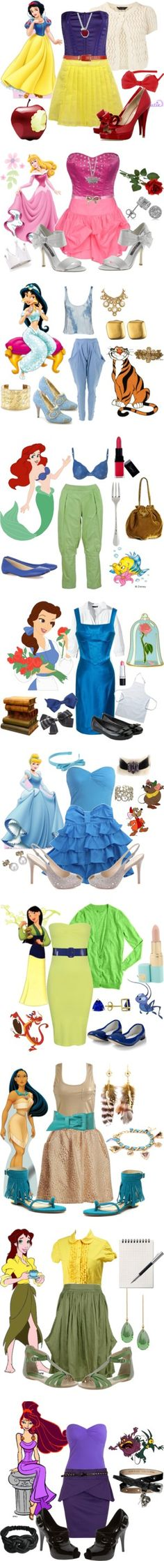 """Modern Days Disney Princesses"" by deborah37 on Polyvore"