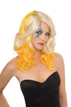 Lady Gaga Two Tone Wig,Blonde,One Size by Rubie's Costume CoTake for me to see Lady Gaga Two Tone Wig,Blonde,One Size Rev