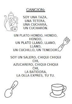RECURSOS EDUCACION INFANTIL: Alimentos: Canciones. soy una taza