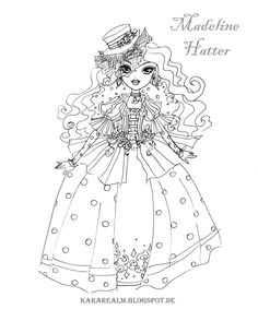 Free Printable Ever After High Coloring Pages: Madeline Hatter Ever ...