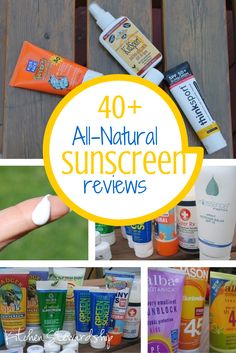 "My top recommendations are listed first, a total of 43 sunscreens on one family. If I've learned one thing, it's that pretty much everything on the sunscreen bottle or tube is meaningless, especially the word ""natural."""
