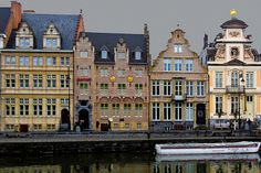 Ghent, Belgium - I stayed in the room between the two swans.