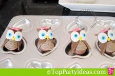 Owl truffles. So freakin cute, but I am not even going to pretend I'm crafty enough to make these.