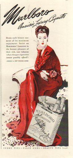Marlboro Cigarette Ads by Bolegard, 1942