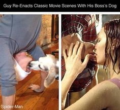 This Guy Got Bored Dog Sitting For His Boss, So He Recreated Famous Movie Scenes