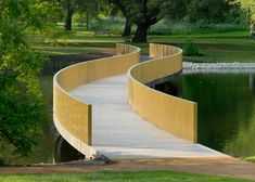 John Pawson's serpentine crossing over a lake in the Royal Botanic Gardens at Kew, England, is the latest addition to our alphabetical countdown of bridges