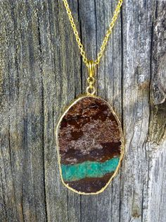 MultiStone Gold Necklace by JewelryByKrystle on Etsy, $32.50