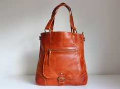 Leather Handbag Tote Shoulder Bag by TheLeatherStore on Etsy, $150.00