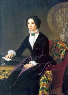 Adeodato Malatesta - Ritratto della Marchesa G. Seghizzi Coccapani