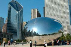 The Cloud Gate at Millennium Park, Chicago.