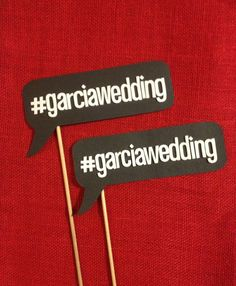 Don't forget to hastag your wedding #hashtagsarecool #Deepherwedding #dphiewedding~ Hashtag Photo Booth Prop Word Bubbles set of 2 by LaRoseRustique, $18.00