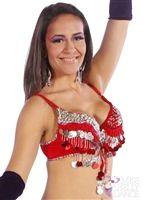 Belly Dance Adjustable Squins Bra   Canili Rimba