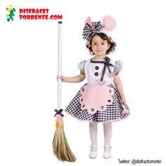 Disfraz de Ratoncita, o ratita para niñas. Muy bonito y original, serás sin duda una ratona presumida.... Incluye: Vestido, Delantal y Tocado Diadema orejas.