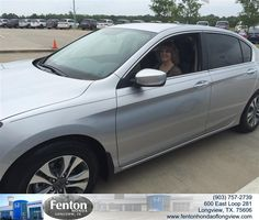 https://flic.kr/p/xLZPv6 | Congratulations Karen on your #Honda #Accord Sedan from Brian Vermillion at Fenton Honda of Longview! #NewCar | www.deliverymaxx.com/DealerReviews.aspx?DealerCode=RFWA