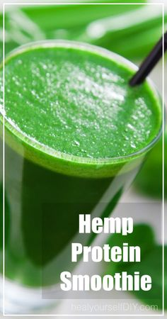Hemp Protein Smoothie | www.healyourselfDIY.com Something yummy for St. Patty's Day!