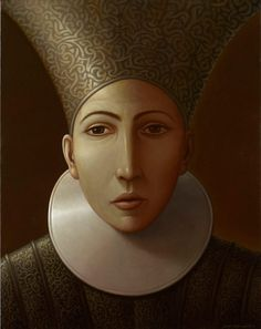 Silver and Gold by George Underwood,  Oil on Linen,109cm x 86cm. THIS PAINTING IS SOLD.
