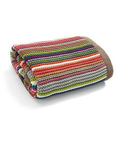 Mamas and Papas Timbuktales Striped Knitted Blanket