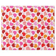 Red hearts pattern valentines day wrapping paper