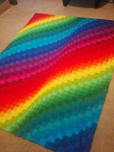 Forget about quilting in shy pastels and neutrals and create a wow-worthy quilt with this jaw-dropping Rainbow Bright Bargello Quilt. With this fun and spirited jelly roll quilt, you can create a boldly vibrant bargello quilt that will leave guests c