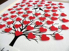 Tree of Mini Hearts. 35e Anniversaire, Cool Art Projects, Paper Crafts, Diy Crafts, Mini Heart, Valentines Diy, Diy For Kids, Etsy, Diy Art