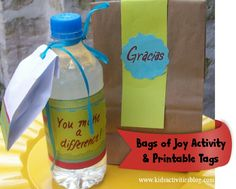 Bags of Joy with Printables... One way to empower our kids with opportunities for them to realize that they can make a difference in their community, school, camp, church and neighborhood.