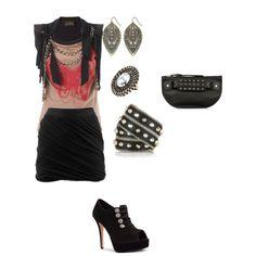 Glam rock/blouse+skirt