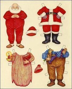 Santa Paper Doll by R&M