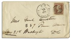 George Custer Autograph Sells for $1,875; George Custer Check $7k