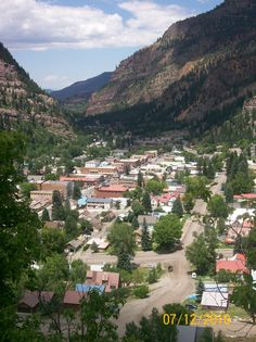 Ouray, Colorado...BEAUTIFUL. I will never forget coming down out of the mountains & seeing this beautiful little town.