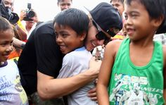 Pin for Later: 14 Times Justin Bieber Proved He Has a Heart of Gold  Justin has always been heavily involved in charity work and mission trips. He visited young survivors of Typhoon Haiyan in the Philippines in 2013.