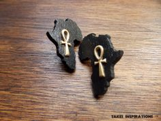 Africa & Ankh Earrings by TakeiInspirations on Etsy, $11.00