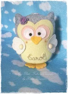 Minhas Thucas! Chaveiro personalizado em feltro, tema coruja. Feito por Hélita Cerqueira, Ateliê Mon Petit - Feltro com Carinho