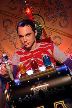 Jim Parsons in a Time Machine
